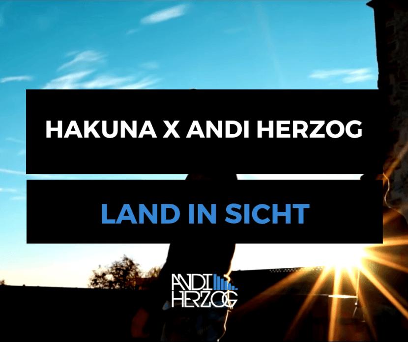 """Cover für den Song """"Land in Sicht"""" von Hakuna und Andi Herzog"""